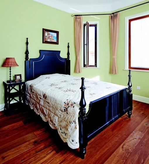 美式田园风格卧室墙面颜色效果图 hao12