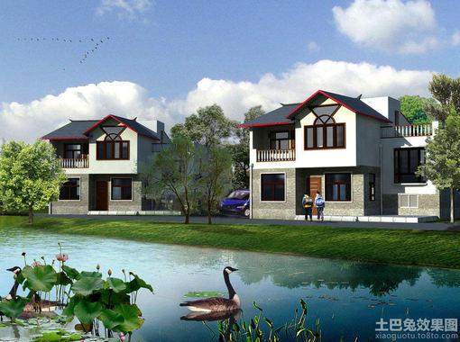 中式新农村住宅效果图图片 农村新中式建筑效果图,农村中式