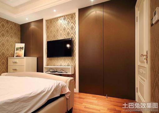 门背景墙,简约隐形门电视背景墙,做背景墙隐形门效果图,卧室隐