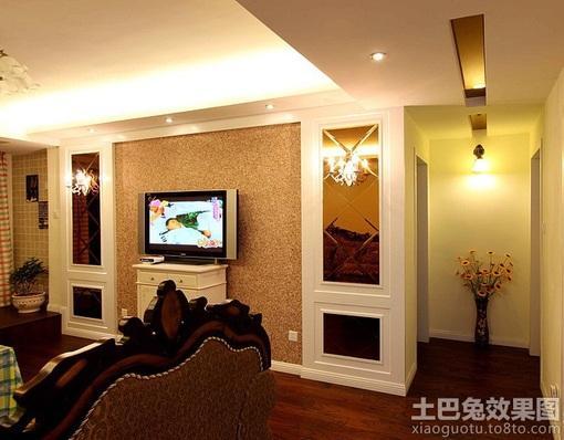 简欧微晶石电视背景墙装修效果图大全2013图片