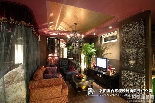 小户型客厅方形吊顶效果图欣赏 hao123