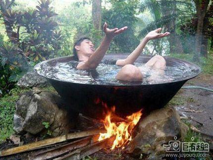 洗个热水澡。_搞笑_hao123上网导航表情包头金冬菇动态馆长图片